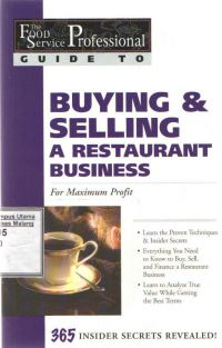 The Food Service Professionals Guide to Buying & Selling a Restaurant Business