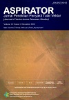 ASPIRATOR : Jurnal Penelitian Penyakit Tular Vektor (Journal of Vector-borne Diseases Studies)