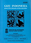 GIZI INDONESIA (Journal Of The Indonesian Nutrition Association)