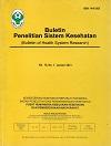 Buletin Penelitian Sistem Kesehatan (Bulletin of Health System Research)