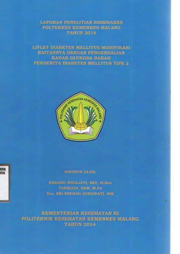 LIFLETDIABETES MELLITUS MODIFIKASI KAITANNYA DENGAN PENGENDALIAN KADAR GLUKOSA DARAH PENDERITA DIABETES MELLITUS TIPE 2