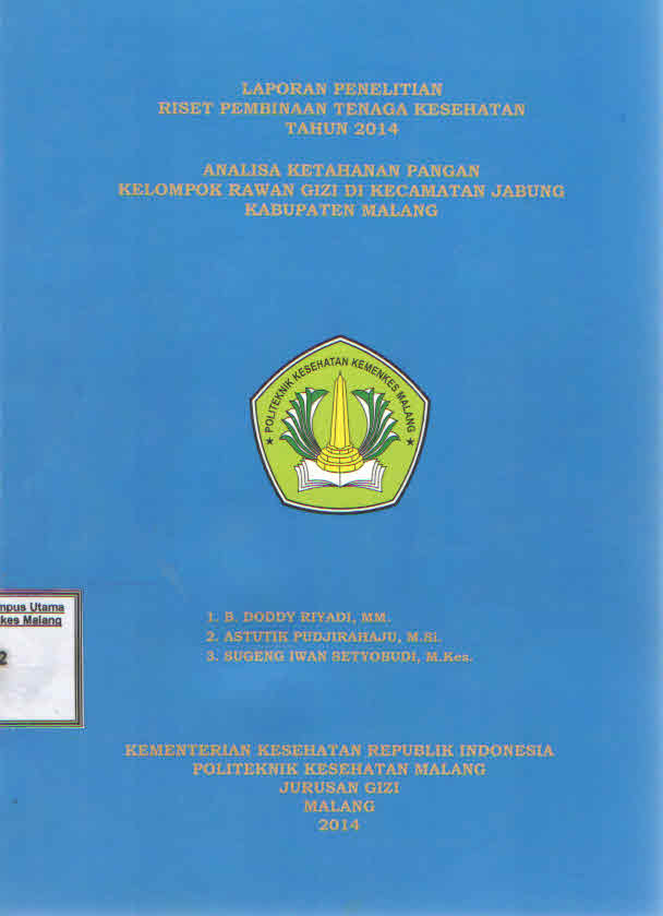 Analisa Ketahanan Pangan Kelompok Rawan Gizi di Kecamatan Jabung Kabupaten Malang